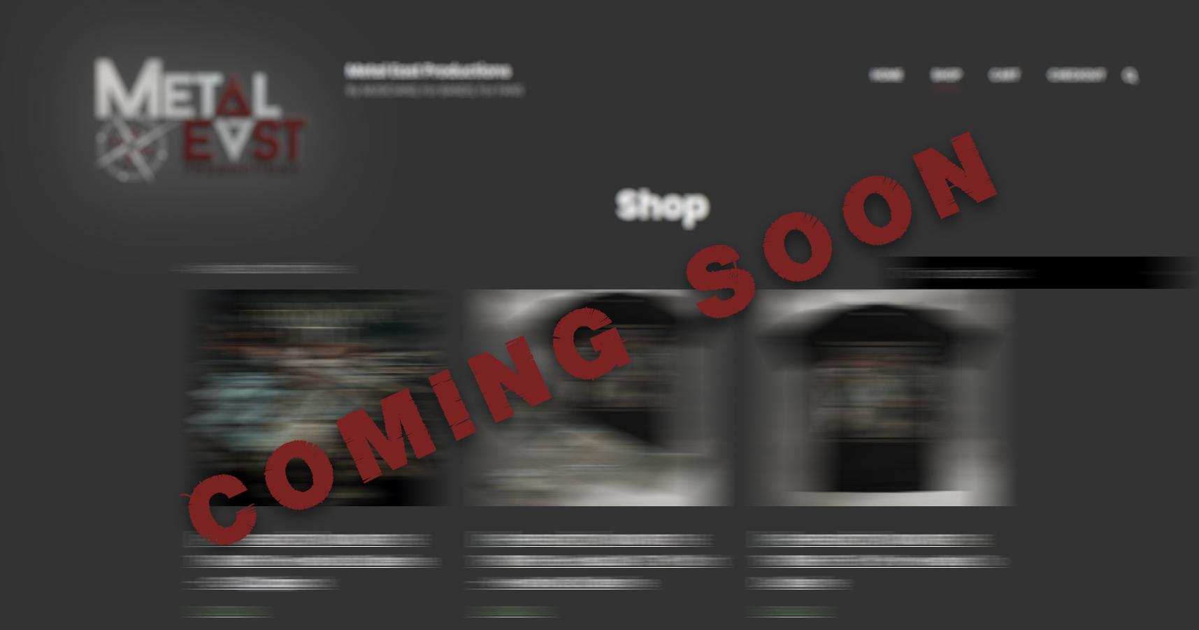 Shop - Coming Soon...